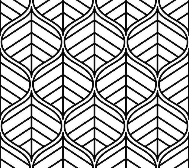Naadloze patroon. grafisch ornament. floral stijlvolle achtergrond. vector herhalende structuur met gestileerde bladeren
