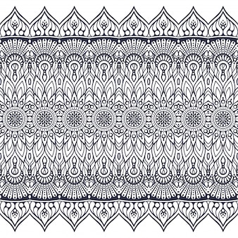 Naadloze patroon hand getekend . islam, arabisch