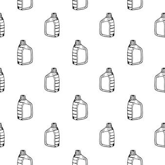Naadloze patroon hand getekende canistr doodle. schets stijlicoon. decoratie-element. geïsoleerd op een witte achtergrond. plat ontwerp. vector illustratie.