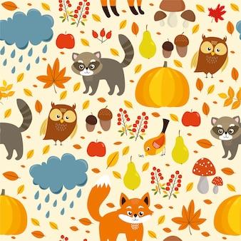 Naadloze patroon herfst