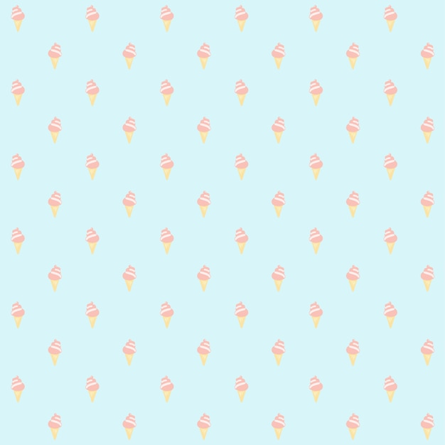 Naadloze patroon ijsje aardbei