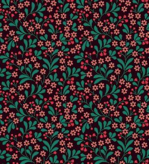Naadloze patroon in vintage stijl. geborduurde bloemen.