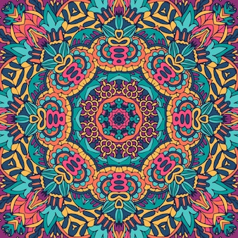 Naadloze patroon ingewikkeld mandala patroon.