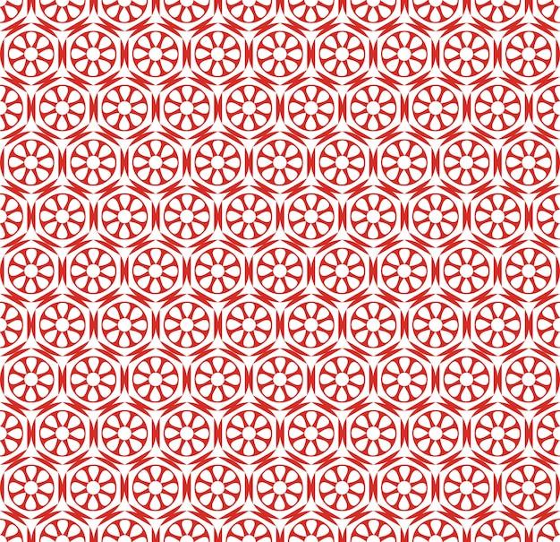 Naadloze patroon japanse stijl, abstracte bloemachtergrond