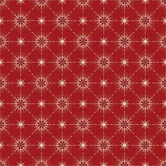 Naadloze patroon kerstdecoratie rode achtergrond sneeuwvlokken sterren feestelijk decor nieuwjaar