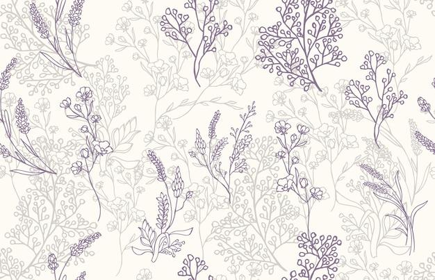 Naadloze patroon lavendel achtergrond