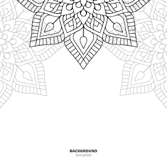 Naadloze patroon. mandala decoratief element.