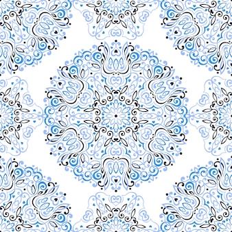 Naadloze patroon met abstracte etnische decoratie.