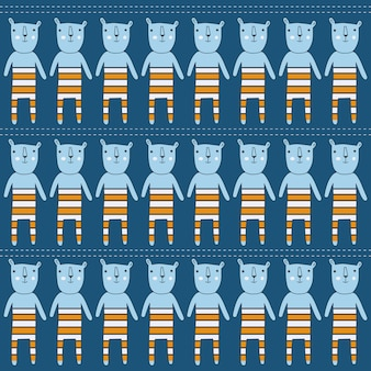 Naadloze patroon met beren, vector-formaat
