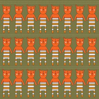 Naadloze patroon met beren