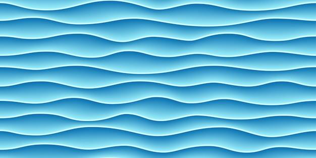 Naadloze patroon met blauwe golven