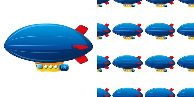 Naadloze patroon met blauwe luchtballon