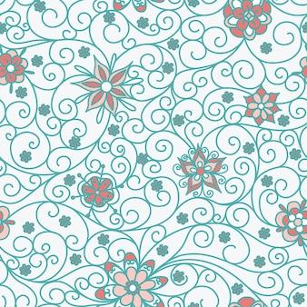 Naadloze patroon met bloemen
