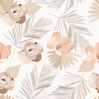 Naadloze patroon met bloemen.