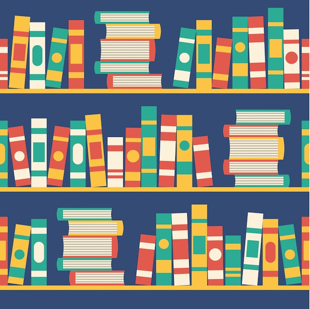 Naadloze patroon met boeken