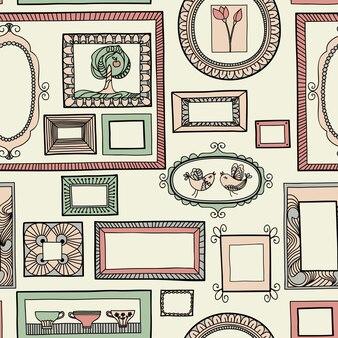 Naadloze patroon met een set frames