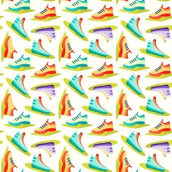 Naadloze patroon met fitness pictogrammen, halters en kettlebell, groene pictogrammen op wit
