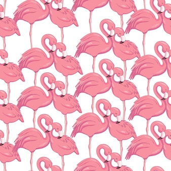Naadloze patroon met flamingo's