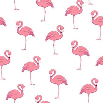 Naadloze patroon met flamingo's