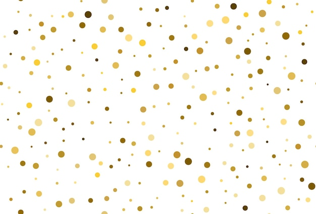 Naadloze patroon met gouden polka dot confetti. gouden stippen confetti naadloze achtergrond