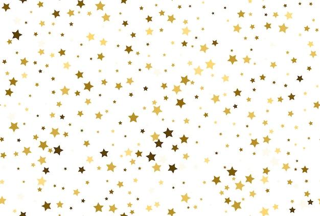 Naadloze patroon met gouden sterren confetti. naadloos gouden sterpatroon. sterrenhemel achtergrond.