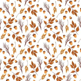 Naadloze patroon met herfstbladeren