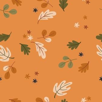 Naadloze patroon met herfstbladeren.