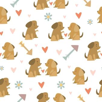 Naadloze patroon met honden