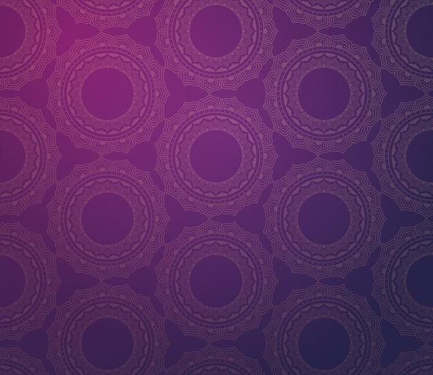 Naadloze patroon met indiase vintage floral sieraad plat