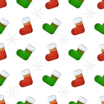 Naadloze patroon met kerstboom en sneeuwvlok voor wintervakantie ontwerp. scandinavische kerst monochrome collectie. inpakpapier voor kerst winterdecoratie. vakantie achtergrond.