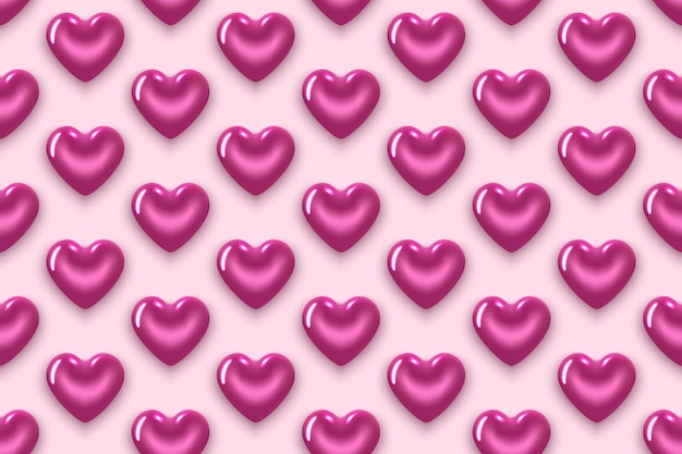 Naadloze patroon met paarse harten. voor valentijnsdag