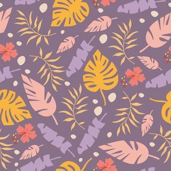 Naadloze patroon met palmbladeren