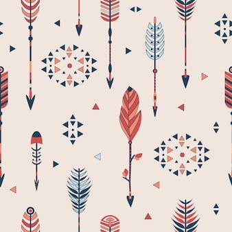 Naadloze patroon met pijlen