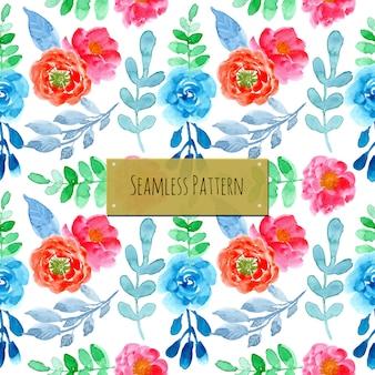 Naadloze patroon met prachtige aquarel bloemen