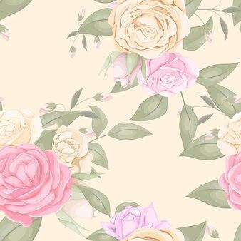 Naadloze patroon met prachtige rozen boeket
