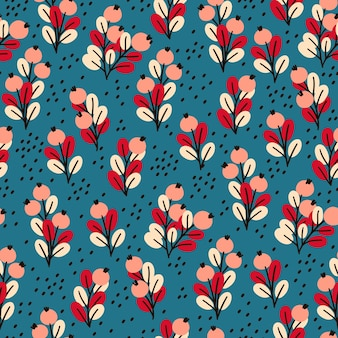 Naadloze patroon met rode bosbessen.