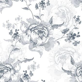 Naadloze patroon met rozen
