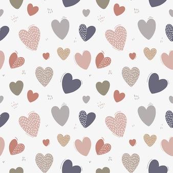 Naadloze patroon met schattige harten