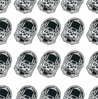 Naadloze patroon met schedel