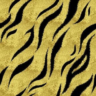 Naadloze patroon met tijger vlekken textuur