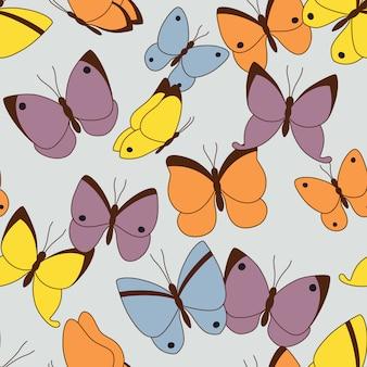 Naadloze patroon met vlinders