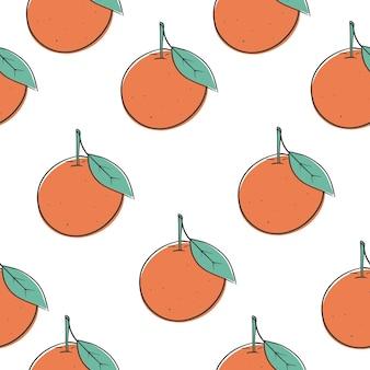 Naadloze patroon oranje doodle stijl