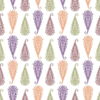 Naadloze patroon paisley ornament volksbloem