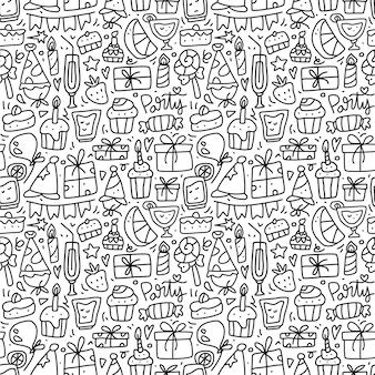 Naadloze patroon partij doodle