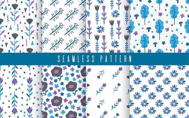 Naadloze patroon plant bloemsamenvatting. naïef handgetekend ontwerp. ornament voor home decor, stof, textiel.