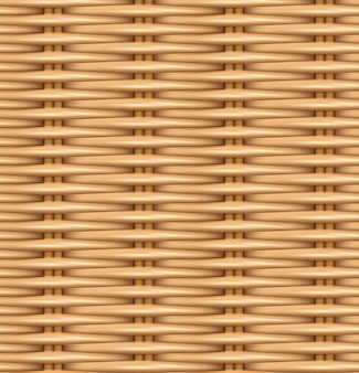 Naadloze patroon realistische textuur van geweven rotan.