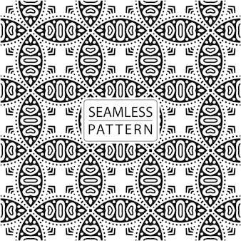 Naadloze patroon. siertegel in batikstijl. traditioneel elegant motief
