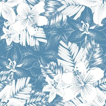 Naadloze patroon tropische abstracte achtergrond.