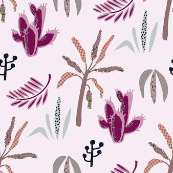 Naadloze patroon van afrikaanse planten.