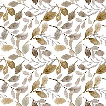 Naadloze patroon van aquarel herfstbladeren